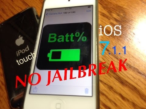 Enable iPod battery percentage iOS 7 NO JAILBREAK