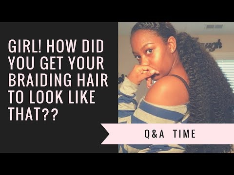The Best Sleek Ponytail With Braiding Hair Part 2|How Did I Get My Braiding Hair Texture?