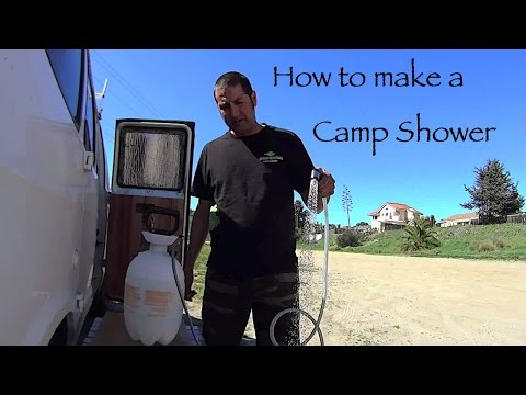 How to Make an Outdoor Portable Camp Shower DIY Living in a Van
