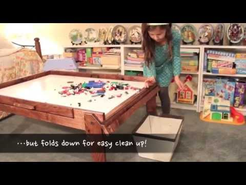 Fold-Up Kids' Activity Table - Train Table, Lego Table