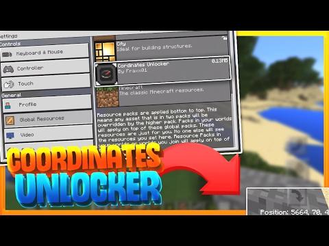 See Your Coordinates At All Times! - MCPE Coordinates Unlocker - Minecraft PE (Pocket Edition)