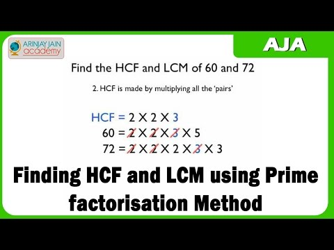 Mathematics - Finding HCF and LCM using Prime factorisation Method