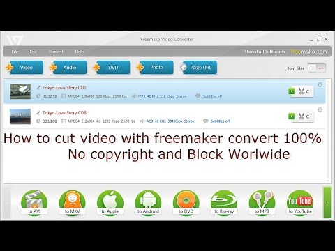 How to cut videos in freemake converter No copyright and Block WorldWide 100%