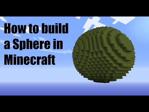 How to Build a Sphere in Minecraft
