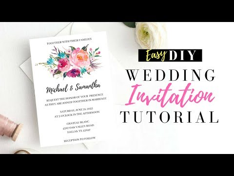 DIY Wedding Invitations Using Pic Monkey!  Make Your Own Wedding Invitations