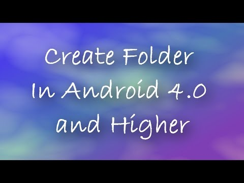 How to create new folder in android 4.0 or higher