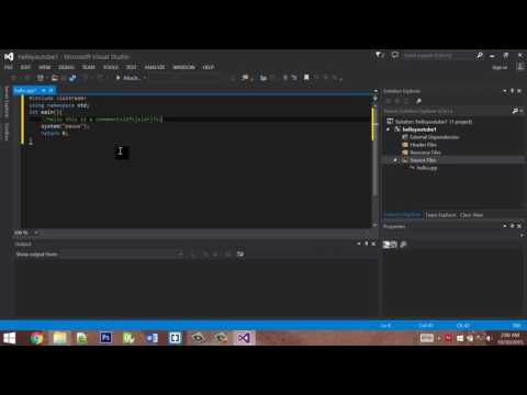 C++ Hello World tutorial in Microsoft Visual Studio. (No programming experience needed!)