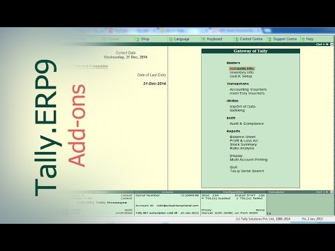 Tally.ERP9 : How To Load TCP File or Tally Customization / Tally Add Ons