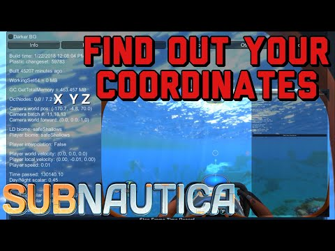 Subnautica How to Find Your Coordinates!