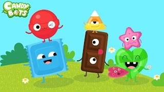 Candy Shapes Trailer (Candybots) - Learn to draw basic shape - Educational app for toddlers
