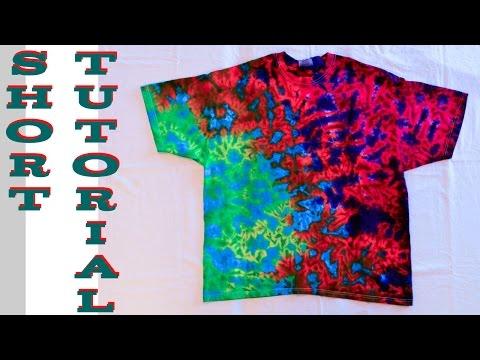 DIY Tie Dye Crinkle Scrunch Shirt [Short Tutorial] #11