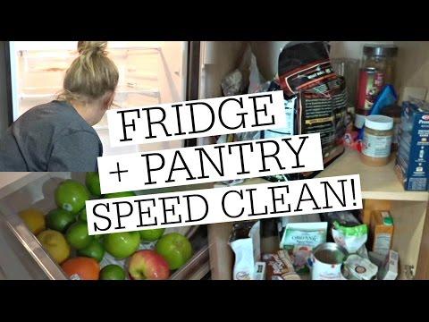 PANTRY + FRIDGE SPEED CLEAN & DECLUTTER // DECLUTTERING MY LIFE SERIES