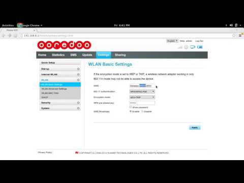 How to Ooredoo Qatar Change SSID and password of WiFi Router Hotspot Dongle