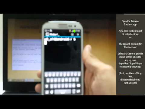 Galaxy S3 TWRP Recovery Installation using a Terminal Emulator app!