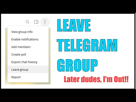 How to Leave a Telegram Channel or Group