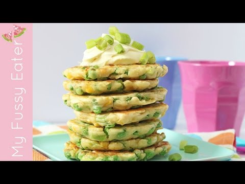 Pea & Sweetcorn Fritters Recipe | Easy Lunch for Kids