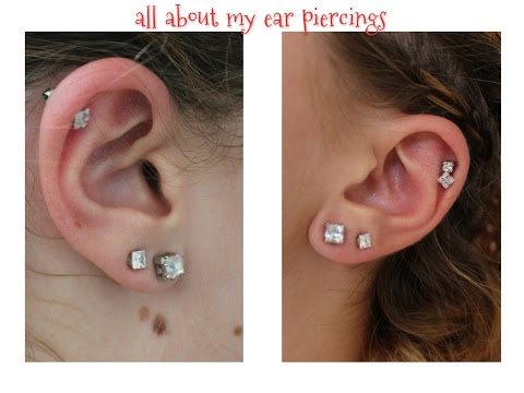 My Ear Piercings. Experiences, Pain, Care