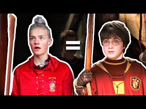 I TRIED RECREATING HARRY POTTER SCENES!