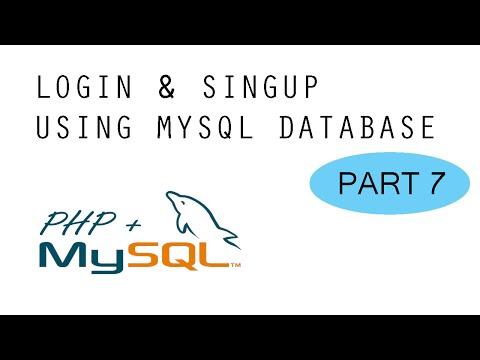 Login & SignUp - MySQL + PHP Tutorial - Part 7