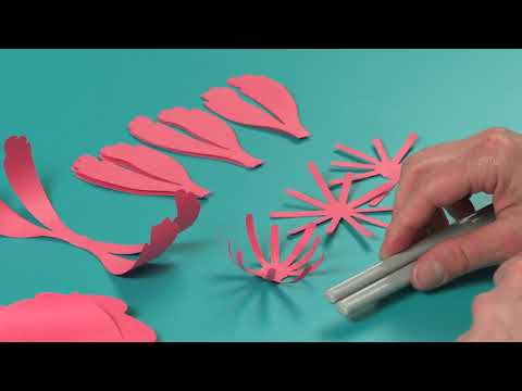 EASY! DIY Large Paper Peony From David Tutera Collection Step By Step | Sizzix
