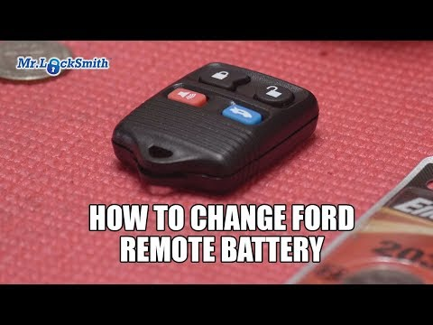 How to Change Ford Remote Battery