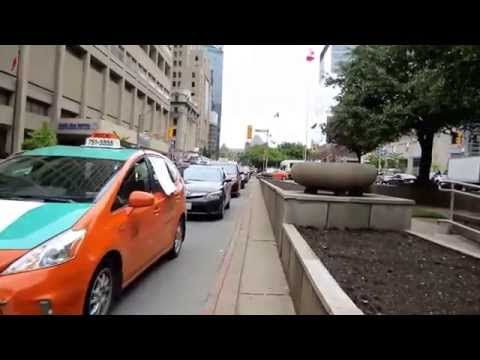 Uber Go Home! Shut Down Pam Am Games 2015 - Rolling Taxi Protest Test Run