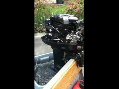 Mercury outboard 8 hp carb cleaning.mov