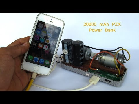 How to make 20000 mAh Power Bank with DC motor - Free energy 100% Mobile phone charger
