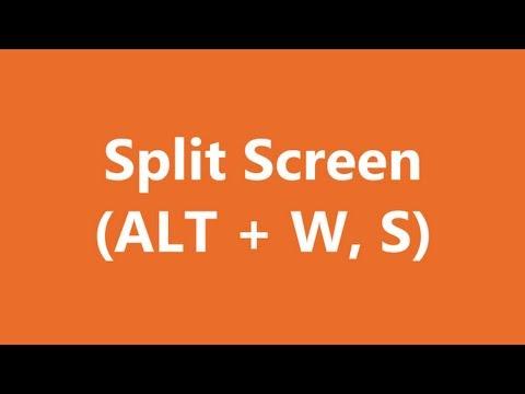 Excel Shortcuts - Split Screen
