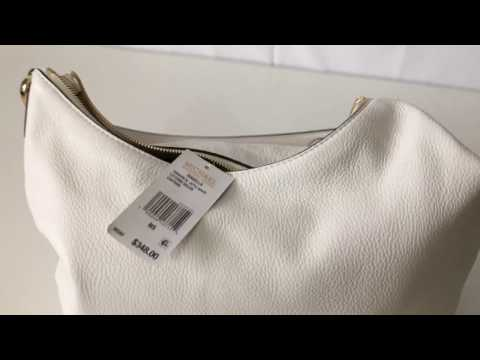 bc0a8f21f6 New Michael Kors Isabella Large Convertible White Leather Shoulder Handbag