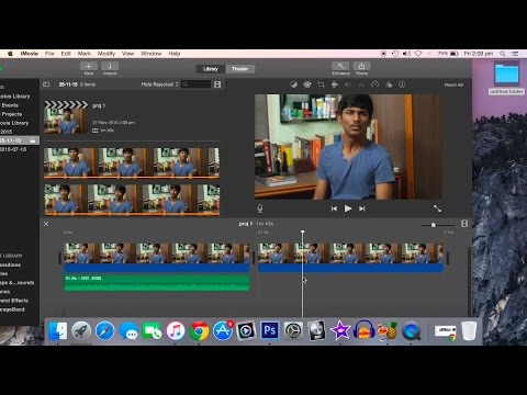 How to remove or replace a voice or sound in iMovie
