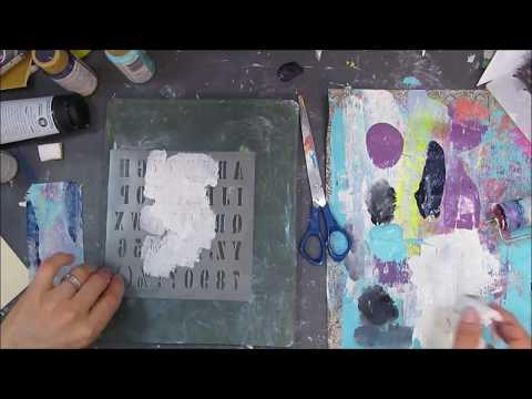 Gelli plate printing using scrap papers