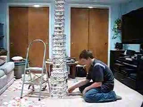 31 Story Card Tower Destroyed