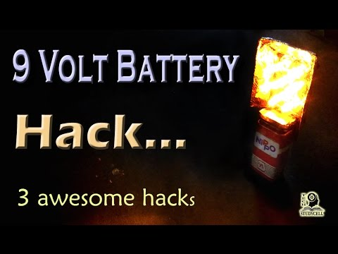 Best Life Hacks from 9 volt battery / 9 v Battery Life Hacks video