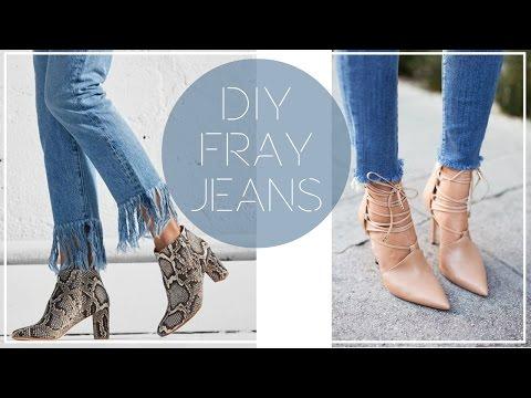 DIY TRENDY FRAYED HEM JEANS | Style | Taylor Apolonio
