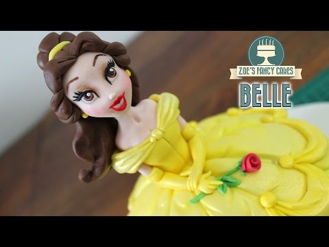Belle doll cake : Beauty and the Beast Disney Princess cakes