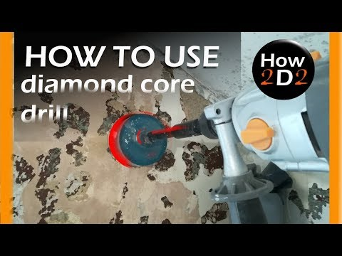 How to drill a large hole using Diamond Core Drill Set  Dry core drilling