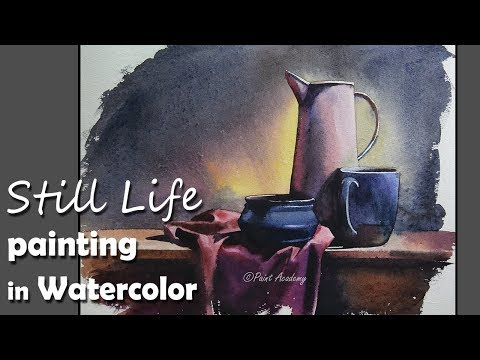 Painting A Realistic Still Life in Watercolor | step by step