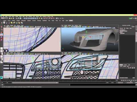 Modelling a Car in Maya Series 1 [P26] Head Light [P1]