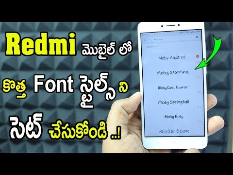 How To Change Font Style On Any Android  XIAOMI REDMI MOBILES | NO ROOT | TELUGU 2018🔥🔥🔥