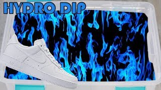 HYDRO Dipping AIR Force 1's In BLUE FIRE!!