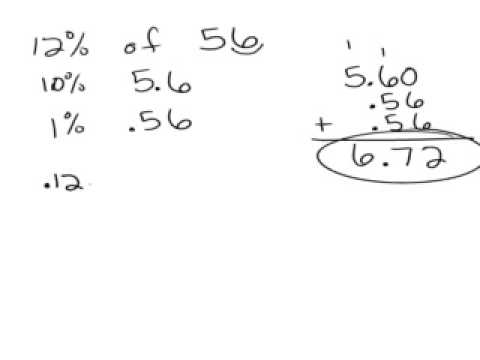 Find percent of a number