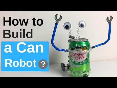 How to Make a Walking Tin Can Robot [For Beginners] Very Simple 1-1