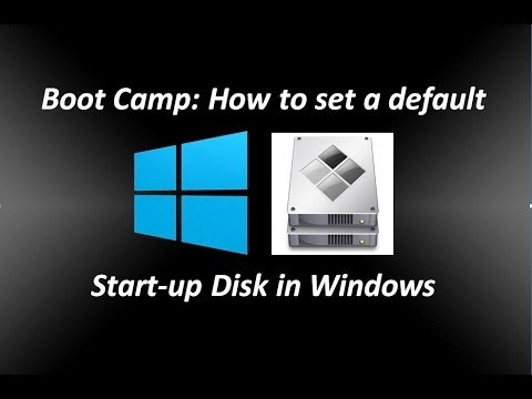 Boot Camp: How to set a default Startup Disk in Windows