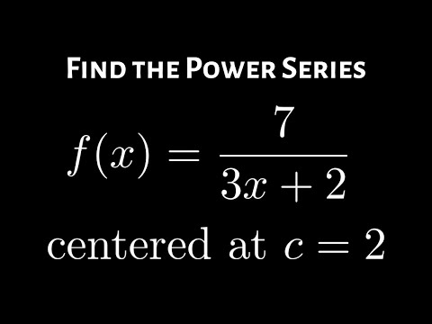 Geometric Power Series And The Interval Of Convergence