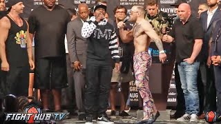 CHAOS! TEAM MAYWEATHER & TEAM MCGREGOR ALMOST COME TO BLOWS IN BROOKLYN!