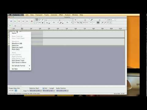 Audacity Tutorial : Multitrack Recording Voice and Guitar at Same Time