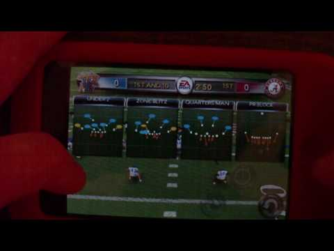 NCAA football Iphone/Ipod touch app review