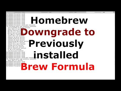 How to Homebrew Downgrade to a Previously installed Brew Formula