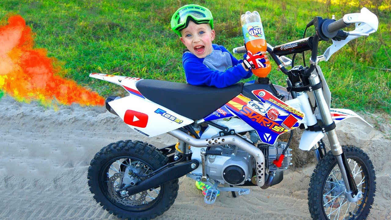 Заправил ПитБайк брата ФАНТОЙ...Tucked my brother's pitbike!!!